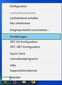 TOP Server Admin Settings in German