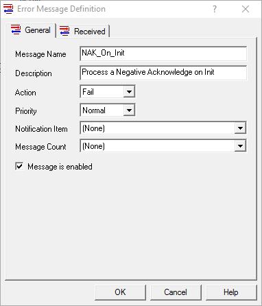 Screenshot - Sample OmniServer Error Message