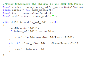 Example - XML file parsing with DataHub scripting