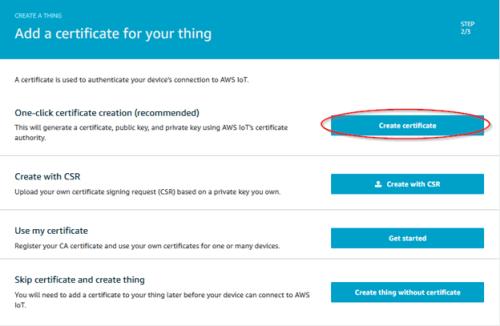 Screenshot - Creating security certificates for AWS thing_AWS_ThingSettings3_Certificate
