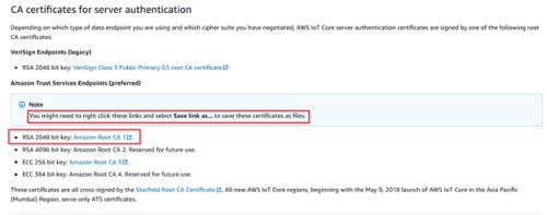 Screenshot - Downloading RSA key for root CA