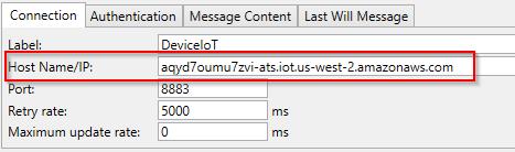 Screenshot - Entering AWS thing Rest API endpoint URL in DataHub