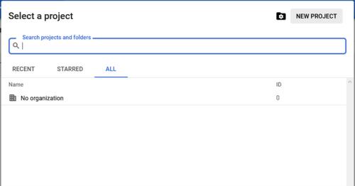 Screenshot - Add a New Project in Google Cloud IoT Core