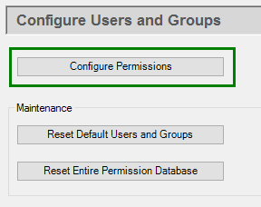 Screenshot - DataHub V9 Permissions Configuration