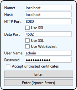 DataHub V9 Remote Configuration Settings