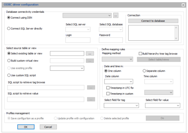 Additional advanced ODBC Driver Flexibility Features