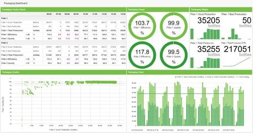 Screenshot - Packaging KPI Dashboard Example