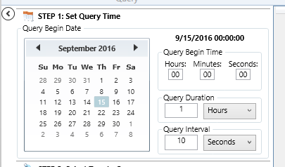 Setting Query Duration and Interval