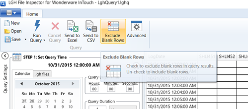 Screenshot - New Exclude Blank Rows feature