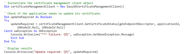 UA Certificate Mgmt Object Example