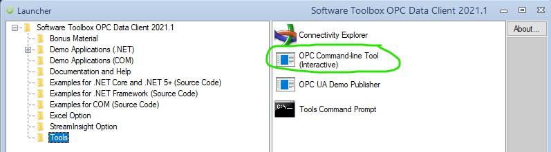 Screenshot - OpcCmd Utility Launcher