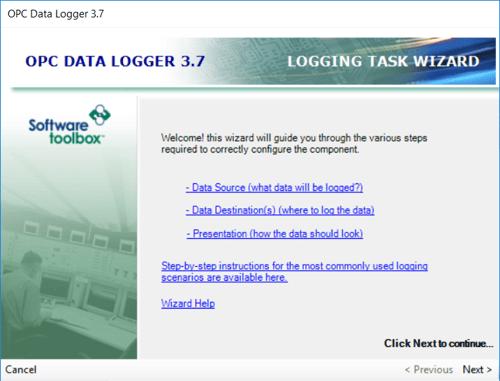 Adding an OPC Data Logger Logging Task