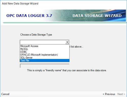 Adding an OPC Data Logger Data Storage