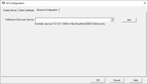 Screenshot - OPC Data Logger OPC UA Local Discovery Server management