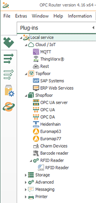 OPC Router has a wide variety of connectivity plug-ins