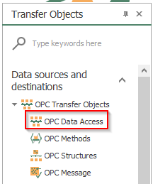 Screenshot - OPC Router Data Access Transfer Object