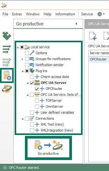 Screenshot - OPC Router OPC UA Server Go Productive