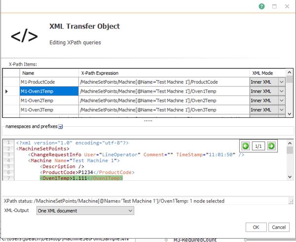 Screenshot - OPC Router XPath Configuration