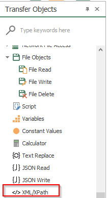 Screenshot - OPC Router XPath Transfer Object
