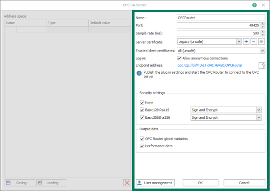 Screenshot_OPC_Router_OPCUA_Server_Plug-in_Instance_Settings