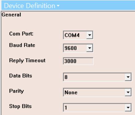 Screenshot - Defining Virtual COM Port in OmniServer