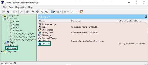 Screenshot - OmniServer Clients View