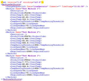 Screenshot - XML File Format Example