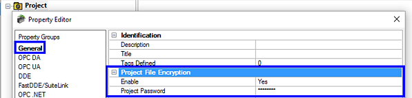 Encrypting TOP Server .opf project