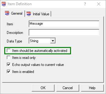 Automatically Activating an OmniServer Item