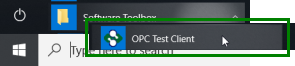 Launching the OmniServer OPC Test Client