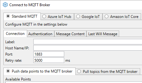 DataHub MQTT Client Integrations Data to the Cloud