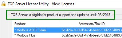 Screenshot - V5 Support/Maintenance Date