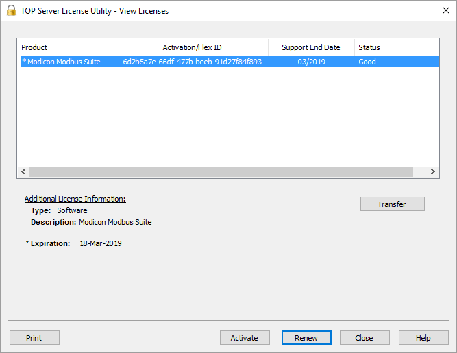 Screenshot - V6 View License Support End Date