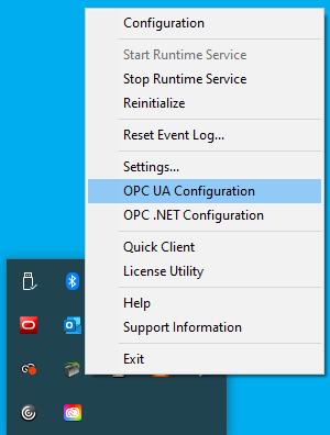 Screenshot - Launching TOP Server OPC UA Configuration Manager
