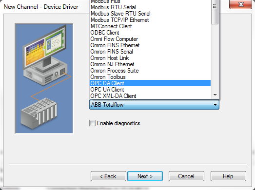 Configuring OPC DA Client Driver