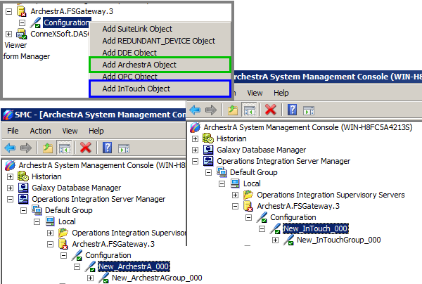 Adding FSGateway Objects for ArchestrA or InTouch