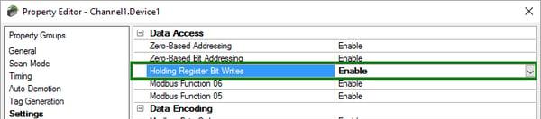 Using Modbus Function Code 22 For Holding Register Bit Writes in TOP Server