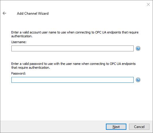 Screenshot - Defining UA Username & Password