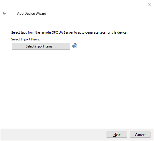 Screenshot - UA Server Tag Import