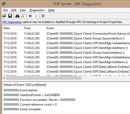 Troubleshooting Tool #5 - TOP Server OPC Diagnostics