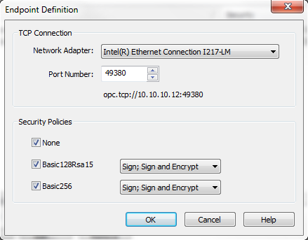 TOP Server OPC UA Endpoint