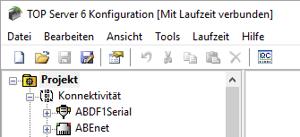 TOP Server Menus and Project Tree in German