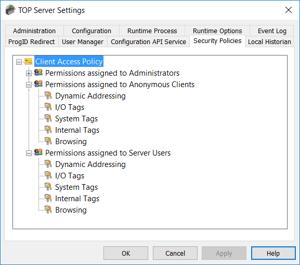 TOP Server Version 6 Security Enhancements