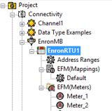 TOP Server EFM Configuration Tree View
