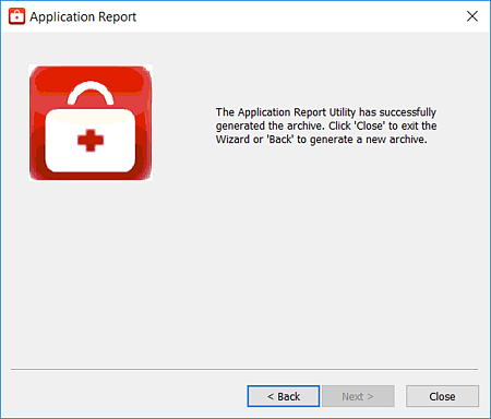 Screenshot - Application Report Completed