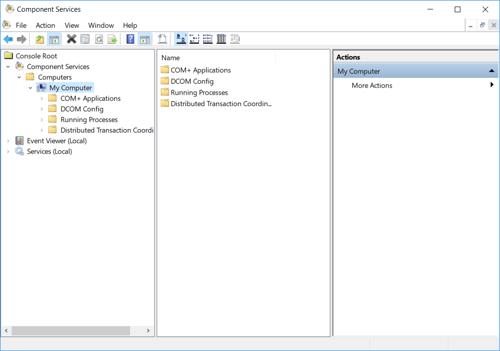 Screenshot - Windows Component Services