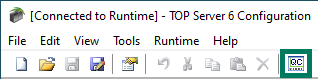 Screenshot- Launching OPC Quick Client from TOP Server Toolbar